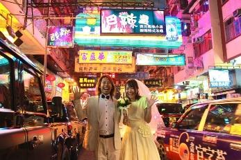 Night photo shooting in Hong Kong
