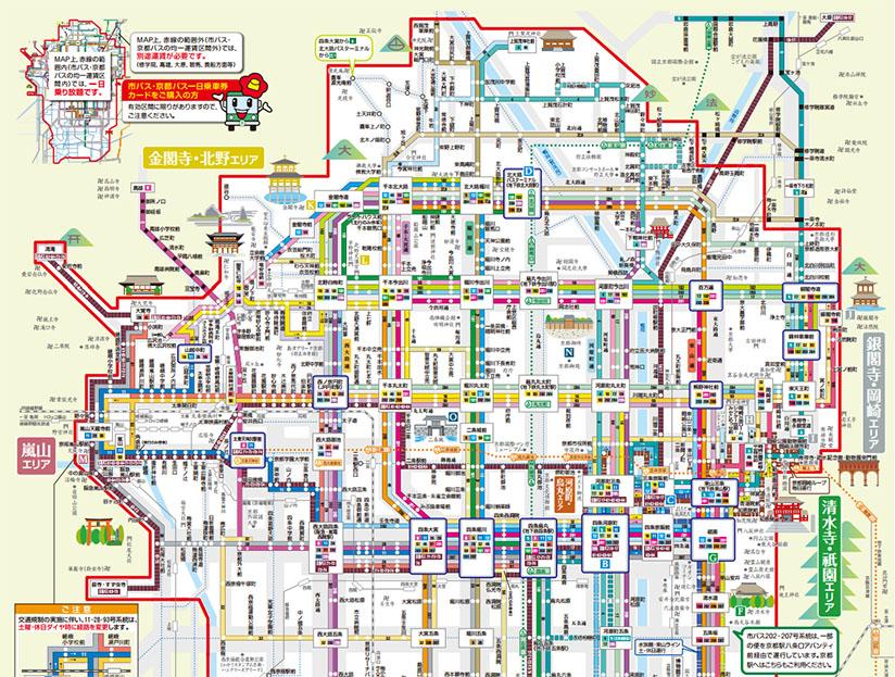 京都巴士路線地圖