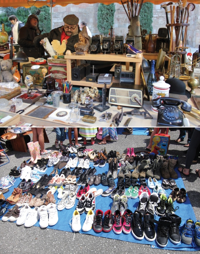 Antique shop and used shoes