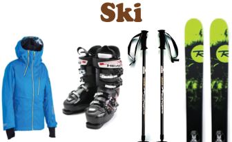 Rental goods for skiing