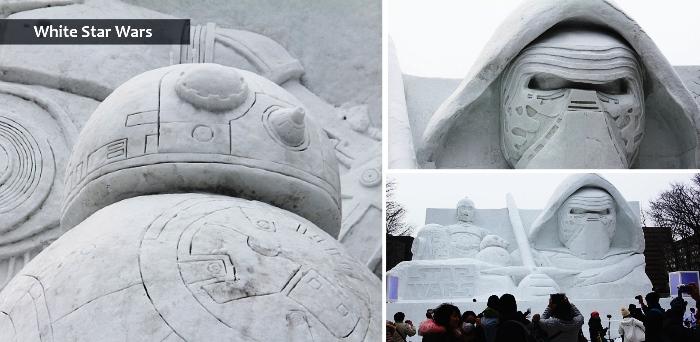 Snow sculpture of star wars