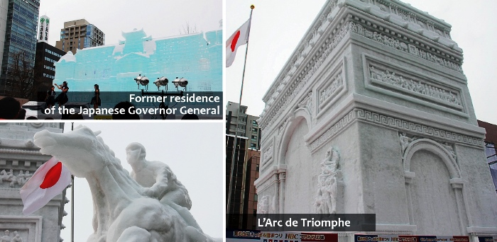 Snow sculpture that has historical meaning