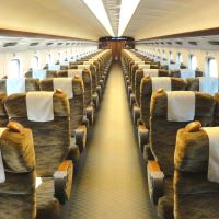 Clean seats of Shinkansen