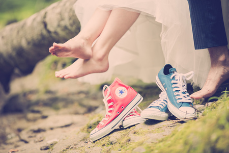 pair shoes of converse