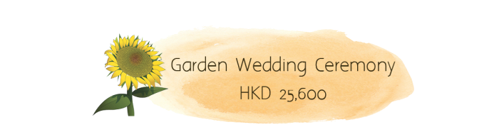 Have great ceremony in the flower scenery