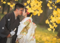 Autumn scene in Osaka Japan