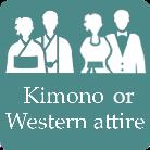 wedding gown or kimono