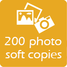 200 photo soft copies